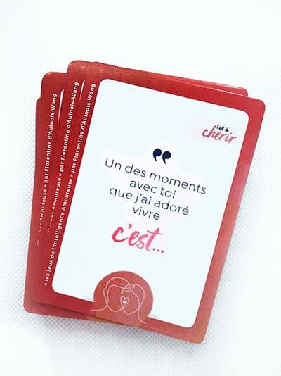 jeu de cartes l'art de chérir